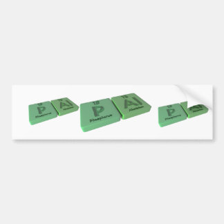 Pal as P Phosphorus and Al Aluminium Bumper Sticker