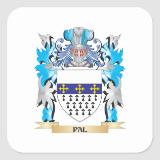 Pal Coat of Arms - Family Crest Square Sticker