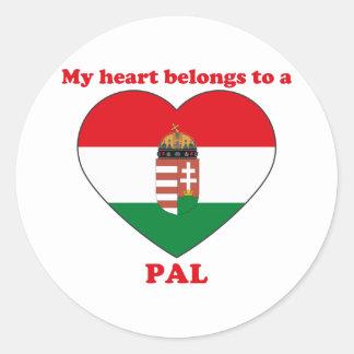 Pal Round Sticker