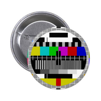 PAL TV test signal 6 Cm Round Badge