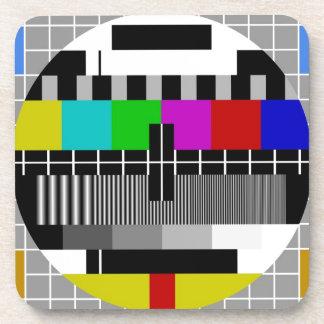 PAL TV test signal Beverage Coaster