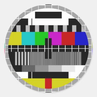 PAL TV test signal Classic Round Sticker