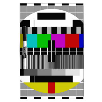 PAL TV test signal Dry Erase White Board