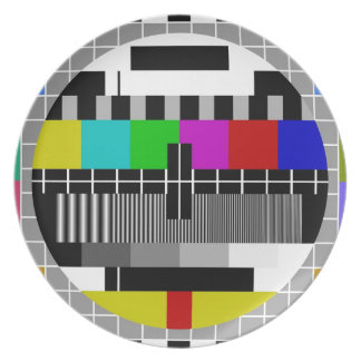 PAL TV test signal Party Plates