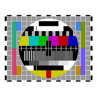 PAL TV test signal Postcard