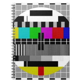 PAL TV test signal Spiral Note Books