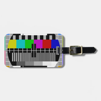 PAL TV test signal Tags For Bags