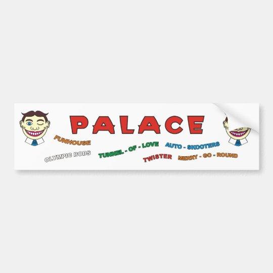 Palace Amusements building front bumper sticker. Bumper Sticker