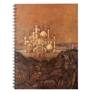 Palace Edmun Dulac Architecture Arabian Nights Spiral Notebook
