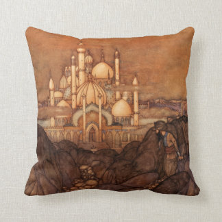 Palace Edmund Dulac Architecture Arabian Nights Cushion
