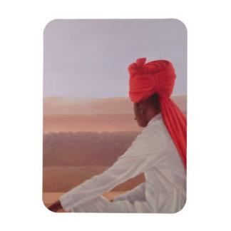 Palace Guard Jaipur Rectangular Photo Magnet