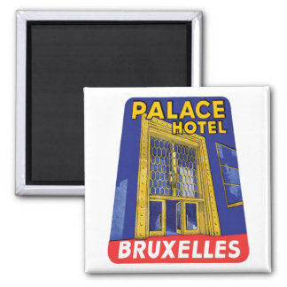 Palace Hotel Bruxelles Luggage Label Magnet
