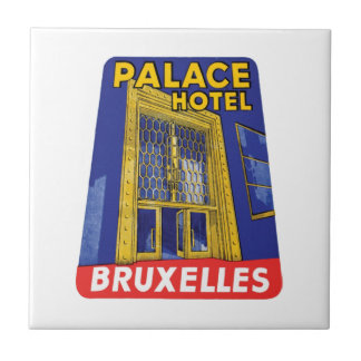 Palace Hotel Bruxelles Luggage Label Tiles