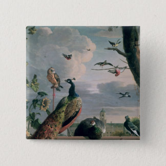 Palace of Amsterdam with Exotic Birds 15 Cm Square Badge