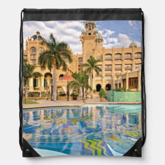 Palace Of The Lost City Hotel And Swimming Pool 2 Drawstring Bag