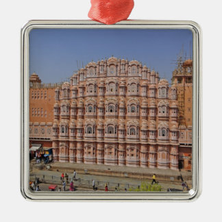 Palace of the Winds (Hawa Mahal), Jaipur, India, Silver-Colored Square Decoration