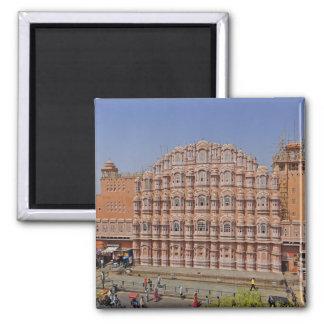 Palace of the Winds (Hawa Mahal), Jaipur, India, Square Magnet