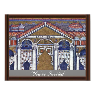 Palace Of Theodoric By Meister Von San Apollinare 11 Cm X 14 Cm Invitation Card