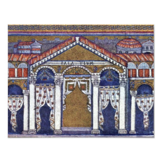 """Palace Of Theodoric By Meister Von San Apollinare 4.25"""" X 5.5"""" Invitation Card"""