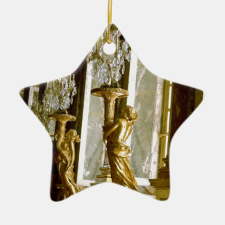 Palace of versailles Hall of mirrors Golden statue Christmas Ornament
