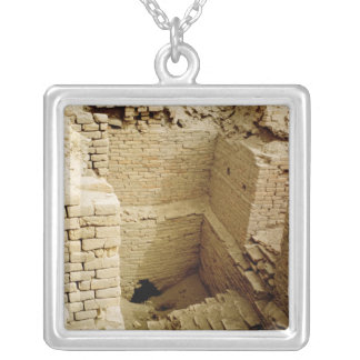 Palace ruin silver plated necklace