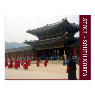 palace seoul korea postcard