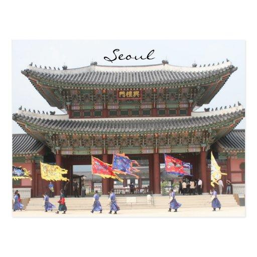 palace seoul postcard