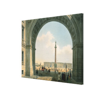 Palace Square, View from the Arch of the Army Canvas Print
