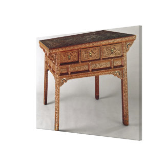 Palace table, Ming Dynasty, Hsuan Te Period Canvas Print