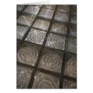 Palacio de Communicaciones, glass flooring Greeting Card
