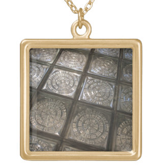 Palacio de Communicaciones, glass flooring Square Pendant Necklace