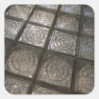 Palacio de Communicaciones, glass flooring Square Sticker