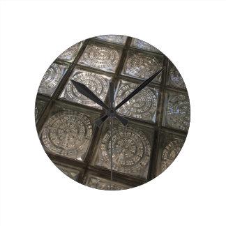 Palacio de Communicaciones, glass flooring Wall Clock