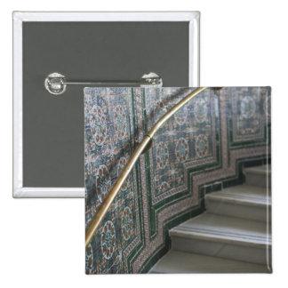 Palacio de Communicaciones, Moorish tiles 15 Cm Square Badge