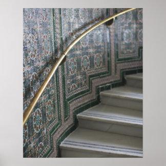 Palacio de Communicaciones, Moorish tiles Poster