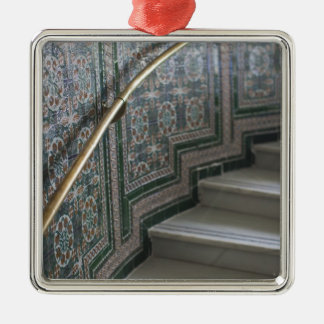 Palacio de Communicaciones, Moorish tiles Silver-Colored Square Decoration