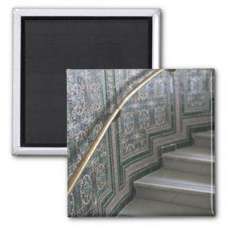 Palacio de Communicaciones, Moorish tiles Square Magnet