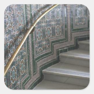 Palacio de Communicaciones, Moorish tiles Square Sticker