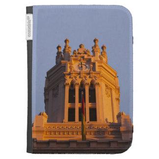 Palacio de Communicaciones, tower detail, sunset Kindle Covers