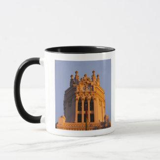 Palacio de Communicaciones, tower detail, sunset Mug
