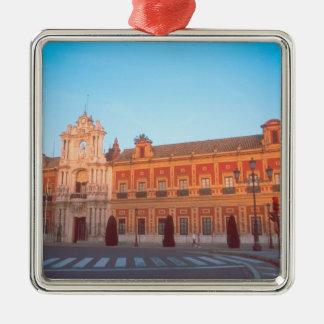 Palacio de Telmo in Seville, Spain seat of Silver-Colored Square Decoration