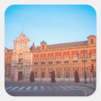 Palacio de Telmo in Seville, Spain seat of Square Sticker