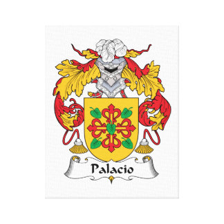 Palacio Family Crest Stretched Canvas Print