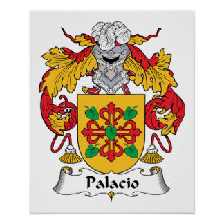Palacio Family Crest Posters