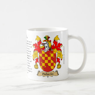 Palacio, the Origin, the Meaning and the Crest Coffee Mugs