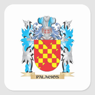 Palacios Coat of Arms - Family Crest Square Stickers