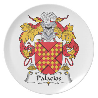 Palacios Family Crest Party Plates