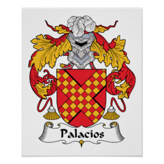 Palacios Family Crest Poster