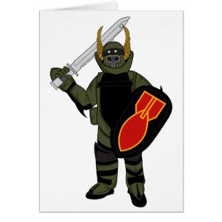 Paladin Bomb Suit Greeting Card