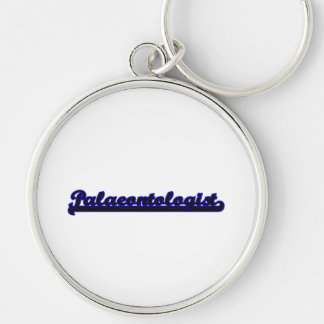 Palaeontologist Classic Job Design Silver-Colored Round Keychain